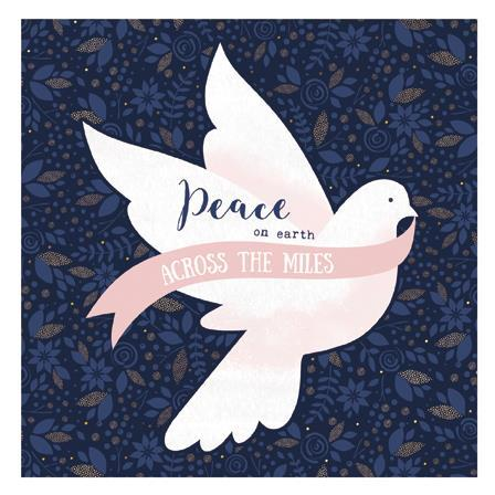 Christmas Card - Across The Miles - Peace Dove
