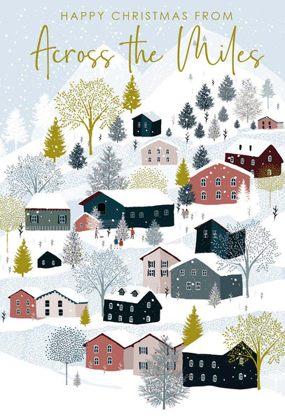 Christmas Card - Across The Miles - Winter Houses
