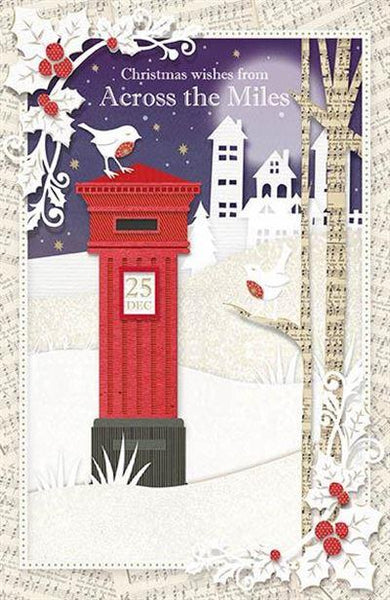 Christmas Card - Across The Miles - British Post Box