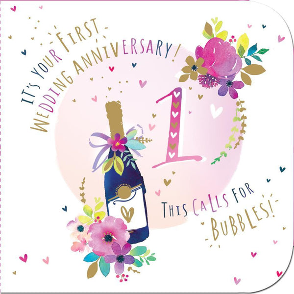 Anniversary Card - 1st Anniversary - One Whole Year