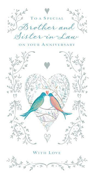 Anniversary Card - Brother & Sister-in-Law Anniversary - True Love