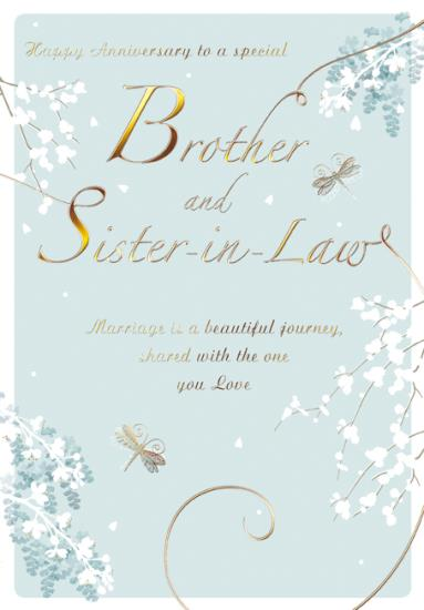 Anniversary Card - Brother and Sister-in-Law - Blossom