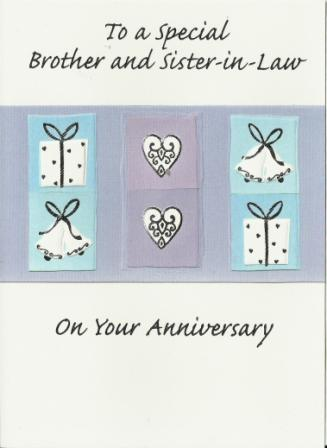 Anniversary Card - Brother and Sister-in-Law Anniversary - Lilac