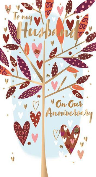 Anniversary Card - Husband - Anniversary Tree