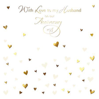 Anniversary Card - Husband Anniversary - Hearts