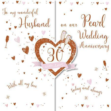 Anniversary Card - 30th Pearl Anniversary Husband - Today and Always