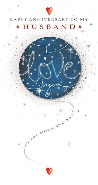 Anniversary Card - Husband - Blue Moon