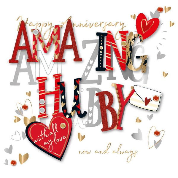 Anniversary Card - Husband - Amazing Hubby