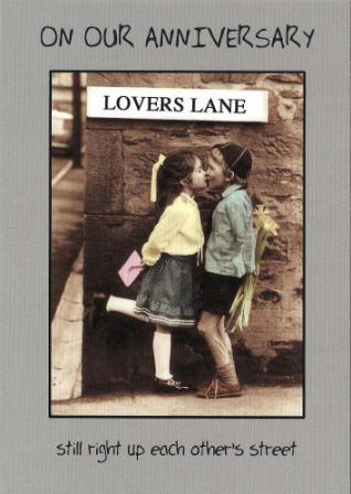 Anniversary Card - Our Anniversary - Lovers Lane