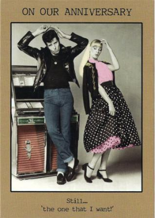 Anniversary Card - Our Anniversary - Rockabilly Couple