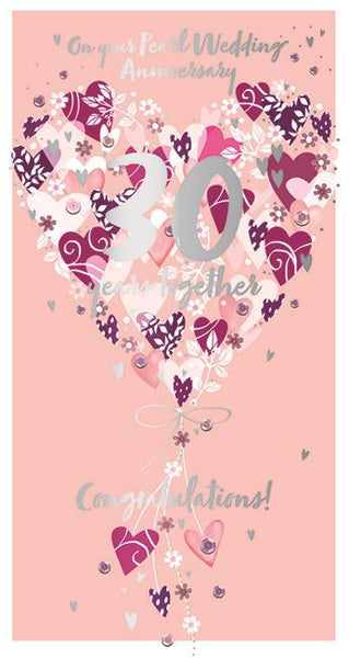 Anniversary Card - 30th Pearl Anniversary - 30th Anniversary 30 Years Together