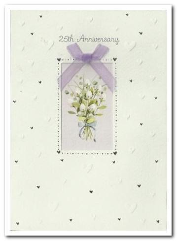 Anniversary Card - 25th Silver Anniversary - Sweet Nothings