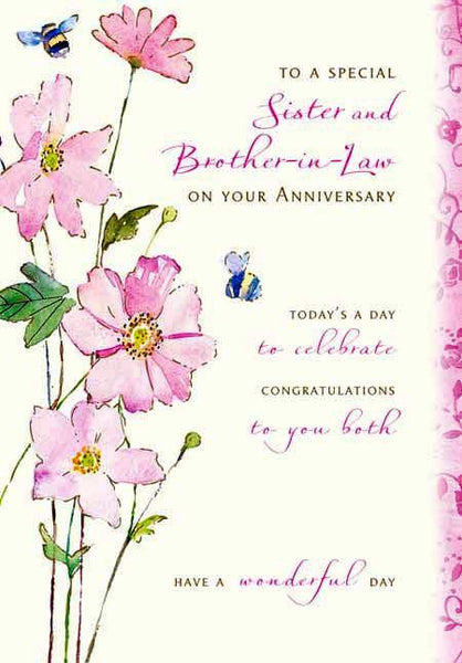 Anniversary Card - Sister & Brother-in-law Anniversary - Celebration