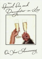 Anniversary Card - Son & Daughter-in-law Anniversary - Cheers