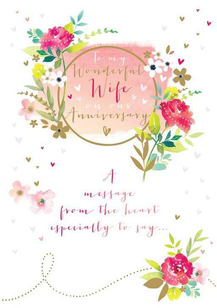 Anniversary Card - Wife Anniversary - From The Heart