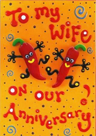 Anniversary Card - Wife Anniversary - Chillies