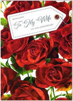 Anniversary Card - Wife Anniversary - Red Roses