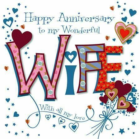 Anniversary Card - Wife Anniversary - Hearts