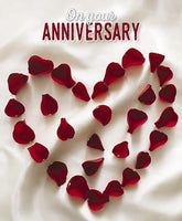 Anniversary Card - Your Anniversary - Petal Heart