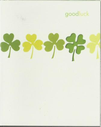 Good Luck Card - Die Cut 4 Leaf Clover