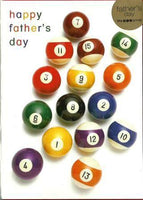 Father's Day Card - Pool Balls