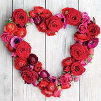 Blank Card - Floral Heart Wreath