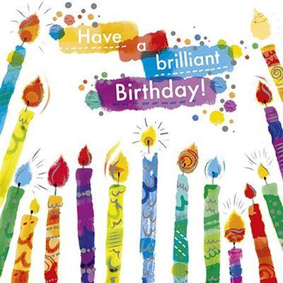 Children's Birthday Card - Candles