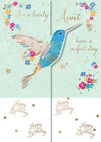 Aunt Birthday - Hummingbird & Blooms