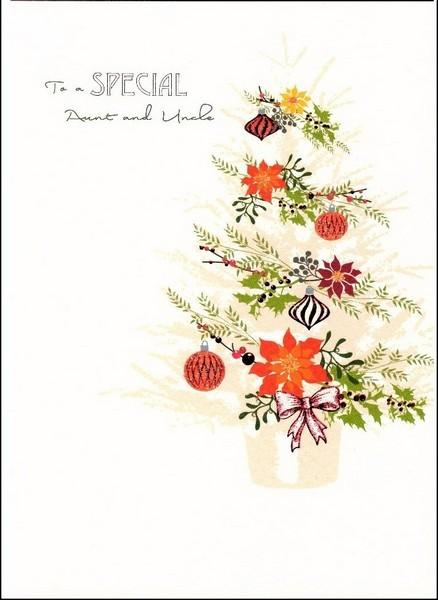 Christmas Card - Aunt and Uncle - Christmas Tree