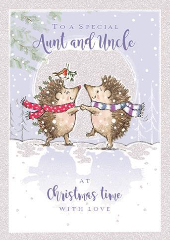 Christmas Card - Aunt and Uncle - Most Wonderful Time Of Year