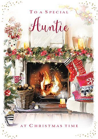 Christmas Card - Auntie - A Christmas Delivery