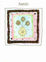 Auntie Birthday - 3 Flowers