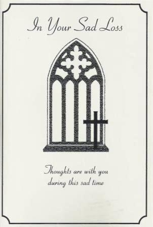 Sympathy Card - Church Window