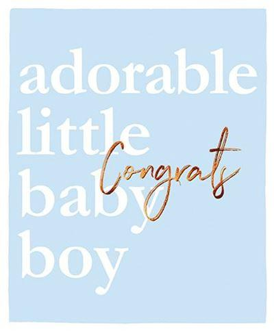 New Baby Card - Baby Boy - Adorable Little Baby Boy