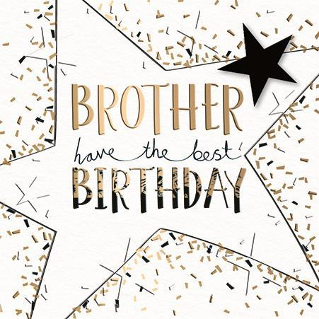 Brother Birthday - Birthday Star