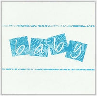 New Baby Card - Baby Boy - Blue Text Baby