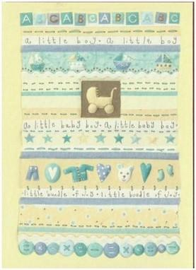 New Baby Card - Baby Boy - A little Boy
