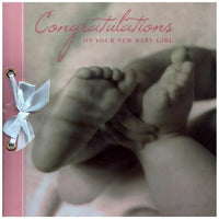 New Baby Card - Baby Girl - Photographic Feet