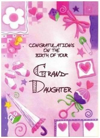 New Baby Card - Baby Granddaughter - Birth of Granddaughter