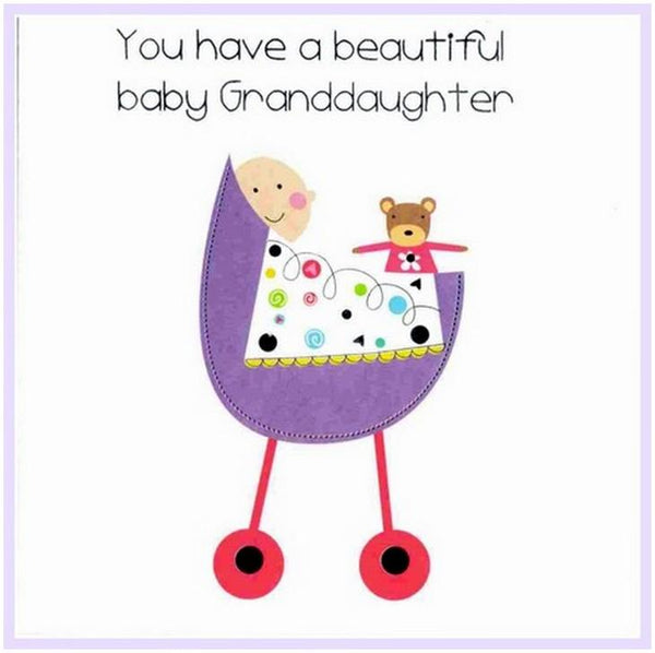 New Baby Card - Baby Granddaughter
