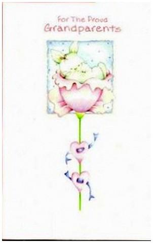 New Baby Card - Baby Grandchild - Bunny