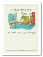 New Baby Card - Baby Girl - Pushed Hard