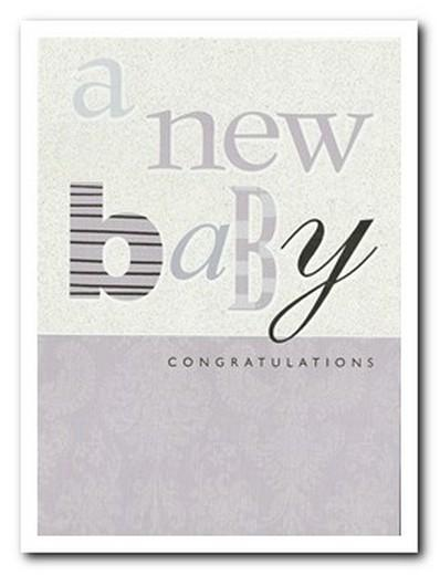 New Baby Card - Baby - Text