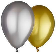 Balloons - Pack 100 Metallic Gold or Silver