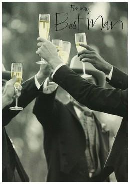 Wedding Thank You Card - Best Man - Champagne Cheers