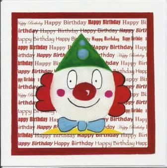 Children's Birthday Card - Clown