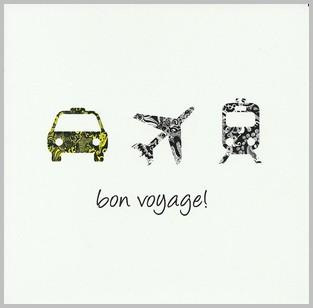 Leaving / Goodbye Card - Plane Trains and Automobile