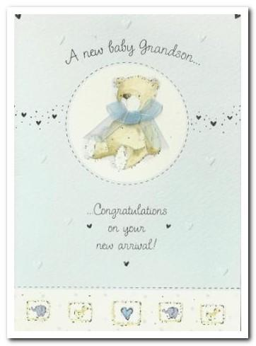 New Baby Card - Baby Grandson - Baby Boy Bedroom