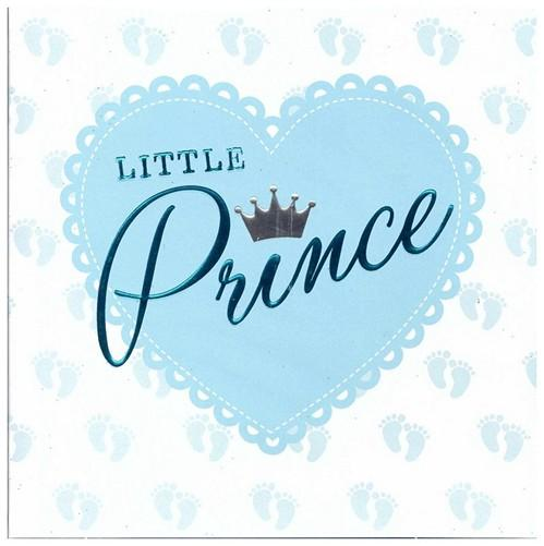 New Baby Card - Baby Boy - Little Prince