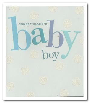 New Baby Card - Baby Boy - Big Text
